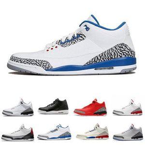 3 3s Мужские ботинки баскетбола Мокко Благотворительность игры Pure White Инфракрасная Fly Black III Спортивная обувь Дизайнер кроссовки 40-47