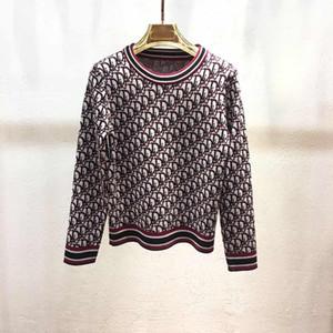 Donne maglione Pullover maglione di marca con la seta del ghiaccio lettere cashmere autunno e inverno Nuovo arrivo Outwear donne ponticello