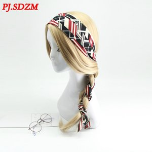 New Arrival Women Retro Style Ponytail Plaited Hair Scarf Fashion Ribbon Hearibbon Headwear Sweet Pearl Headbands CX200819