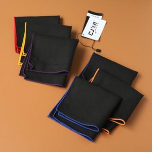 Men's Pocket Square Plain Hankies for Suit cravat scarf Handkerchiefs Cotton Men Business Man Hanky Tie Ties Suits Handkerchief Accessories