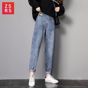 Zsrs autumn jeans woman mom jeans pants boyfriend for women with high waist push size ladies jeans denim pants 4xl CX200815
