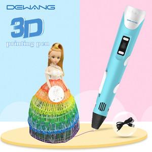 Новый Kid 3D принтер Ручка с USB RP800A PLA ABS Нить DIY игрушка подарка дня рождения чертежа Pen 3D печати Pen