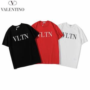 2020 Nueva Valentin Warren 19 principios de la primavera clásico VLTN Tamaño Negro Carta de manga corta de color rojo blanco S-XXL H329