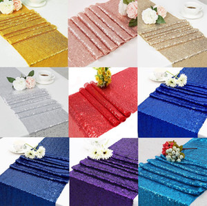 Sequins Table Runner Table Banner Sequin Decor Tablecloth Cloth Fabric Decoration Runners Party Decorations for Tables 30*183cm LJJK2454