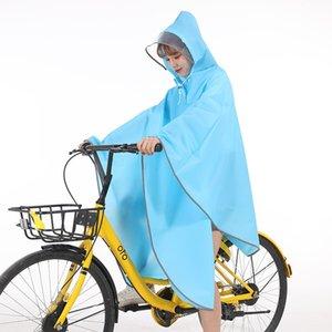 Cloak велосипед плащ мужской и женский одиночный студент Велоспорт горный велосипед прозрачный корейский стиль моды отражающей полосы Ponch