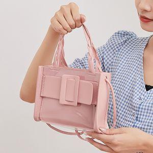 Сумки сцепления 2021 летняя женская сумка желе прозрачное плечо