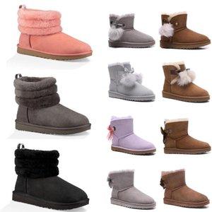 2020 Australia Nueva bota botas para la nieve de invierno en moda mujer mini señoras de la mini-tobillo niñas clásicos zapatos de los cargadores de la marina triples marrón tamaño 36-40 # pZnZ