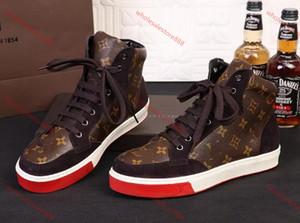 Louis Vuitton Shoes 2020 zapatos ocasionales de los nuevos hombres de moda los zapatos de lona zapatillas de deporte pato de goma 39-46 envío libre