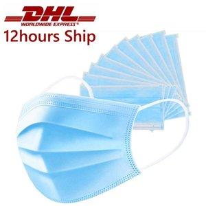 Monouso Maschera monouso 3 strati antipolvere maschere facciali Maschere calotta di protezione Set Anti-Dust Mask DHB1492