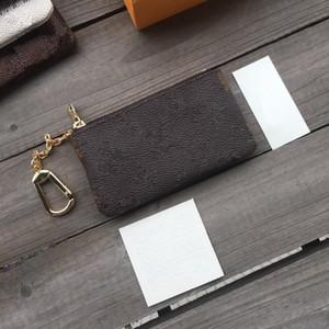 Mini Klasik Cüzdan Tasarımcı Fermuar Para Çanta Deri Anahtar Çanta Unisex Deri Çanta KeyChian Çanta ve Cüzdan Para ile Kutu Ücretsiz Kargo