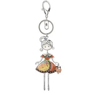 Designer Key Ring Hot Statement Key Chain for Women Girls Lady Handbag Charms Enamel Alloy Car Pendant Keychains Keyrings Gift
