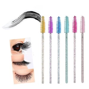 Disposable Crystal Eyelash Brush Comb 50Pcs pack Eye Professional Makeup Tool Mascara Extension Beauty Lashes Wands O5Z8