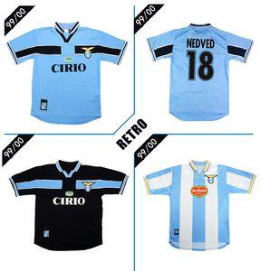 1999 2000 Lazio Retro futbol forması 99 00 Vieri SALAS Mihayloviç VERON STANKOVIC MANCINI NESTA NEDVED Inzaghi bağbozumu futbol forması