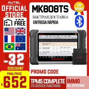 Autel MaxiCOM MK808TS OBD2 Bluetooth Scanner Car Diagnostic Scan Tool OBD 2 Code Reader Programing TPMS Sensor PK MK808 MP808