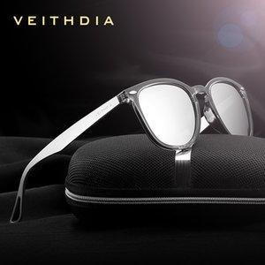 VEITHDIA Marke Unisex Aluminium + TR90 Männer Photochromic Spiegel Sonnenbrillen Brillen Zubehör Sonnenbrillen für Frauen 6116 71D8