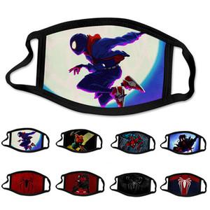 Linda hombre araña Spiderman súper héroe cabrito cara máscara máscaras del partido de Cosplay reutilizable polvo lavable a prueba de viento algodón de los niños
