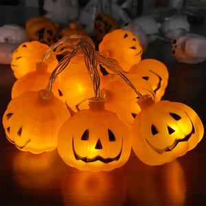 Halloween, lumières LED cordes citrouille, Lampes vacances pour extérieur Décoration d'intérieur, 2 Modes Steady / Flickering Lights