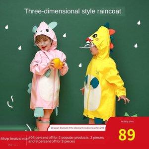 chuva e do ensino médio Rain' casaco meninas da eMS9L Crianças lona do jardim de infância do bebê das crianças Cloak meninos engrenagem principal preparam dinosau e52Fx