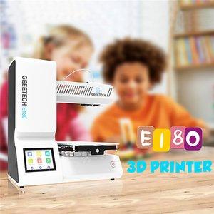 "Geeetech E180 3D Printer 130 * 130 * 130mm Baskı Boyutu Mini DIY 3D Printer 3.2"" Tam Renkli Dokunmatik Ekran Masaüstü"