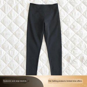 Mn5Zu IsGqw Ben siyah teknoloji kumaş yumuşak bir tayt küçük siyah sol ve 3 konforlu adet elastik ou pantshigh 3 adet bırakmış