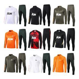 sportswear jaqueta homens formação paletó MARCIAL Rashford survêtement futebol 20 21 manchester correr 2020 Pogba United Soccer Treino