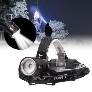 Recargable de LED impermeable XPL-V6 bulbo Rotary ampliables 3 modos cabeza de la lámpara