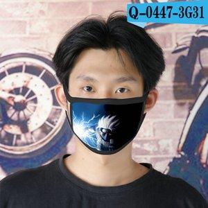 Наруто Получить Cubrebocas многоразовый Tapabocas Face Mask конструктор для девочек Cartoon Face Mask 22 Naruto Get home2010 RijEF