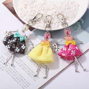 New Doll baby cute Women keychain Car Pendant Girls Handmade fashion Jewelry Bag key chains hot key ring