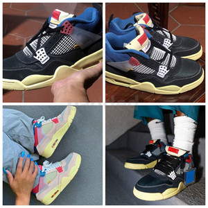 New Release Union 4 Mens Basketball Shoes For High Quality 4s LA Mens Trainers Sports Sneakers size 7-13