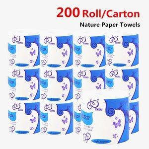 Wholesales 200 Ролл / Lots NEW Природные бумажные полотенца вуаля бумага туалетная бумажные полотенца для ванной лизола papertowels много