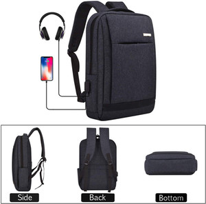 Slim Anti-Theft Laptop Backpack with USB Charging Port and Headphone Jackport, Water-resistant Lightweight Backpack for 15.6-inch Laptop