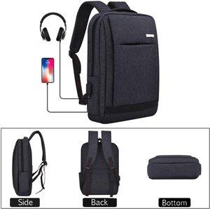 Delgado antirrobo Mochila portátil con puerto de carga USB y auriculares Jackport, resistente al agua mochila de peso ligero para el ordenador portátil de 15,6 pulgadas