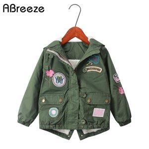 Abreeze 2019 зимних детей верхней одежды пальто европейских детьми стиля вниз / ветровок новых 2T еТ теплые куртки с капюшоном для девочек C0924