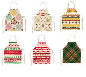 Önlük Noel Pişirme Erkekler Kadınlar Kitchen için Pamuk Keten Önlükleri önlük Ev Pişirme Aksesuarlar 53 * 65cm ekose