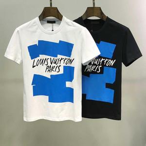 T-Shirt Sportiva da uomo 2020 moda LOU VUI oben con stampa lettere manica corta stile europeo e americano