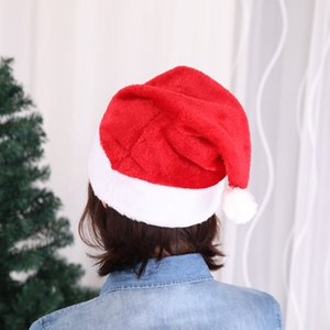 Santa Claus Hats Christmas Caps for Christmas Gifts Adult child can decoration Cheapest for party Festival Wholesale free shipping