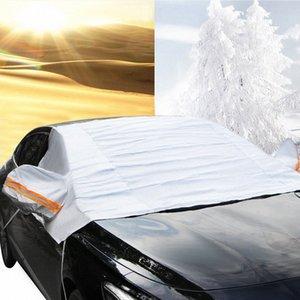 Универсальная автомобильная Половина Крышки Крышки Зонт Styling Фольга Водонепроницаемых сгущают автомобили Snow Щит Anti UV снег Защиты для автомобилей CMTI #