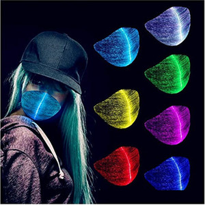 MASQUE DE RAVE LED 7 COULEURS LUMIÈRE LUMINES POUR HOMMES FEMMES FILET MASQUE MASQUE MANGION PARTIE DE CHRISSION HALLOWEEN ÉCLAIRAGE MASQUES JK2009XB