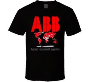 Grupo ABB Industrial Company 01 Negro Camiseta