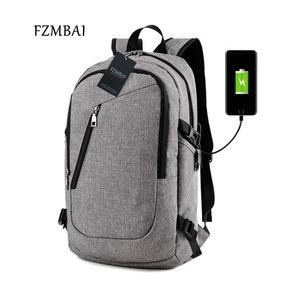 Designer-FZMBAI Unisex Leisure Travel doppio Borsa a tracolla con porta Maschio studente di college di Oxford zaino del computer USB Charger