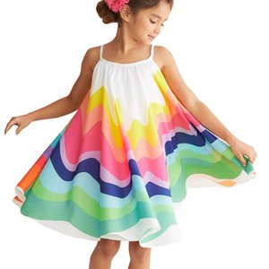 girl princess dress Toddler Kids Baby Girl Princess Clothes Sleeveless Chiffon Tutu Rainbow Dresses