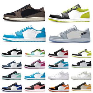 Nike air jordan 1 retro Jumpman 1 low Mens Basketball shoes travis scott Black Cyber shattered Backboard UNC 1s Cactus Jack Bred Toe Men Women trainers Sports Sneakers scarpe