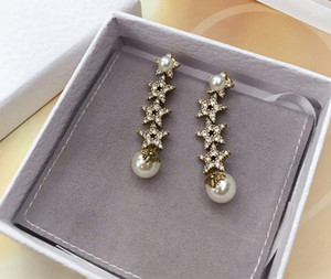 American 2020 spring and summer fashion hot sales new pearl earring luxury custom brass plated thick gold S925 silver needle elegant popular