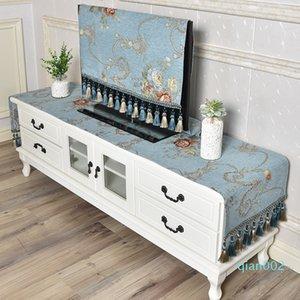 TV mobile di copertura panno TV Tavolino combinazione confezionata Tovaglia Comodino panno polvere stile semplice europea