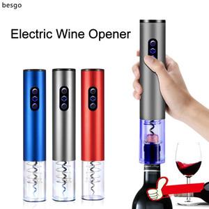 سبيكة خمر التلقائي فتاحة زجاجات النبيذ متعدد الألوان الكهربائية الفتاحات الألومنيوم التلقائي اللاسلكي المفتاح المطبخ بار أدوات BH0636 هدية BC