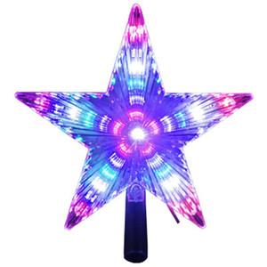 estrella de cinco puntas superiores árbol de la decoración del jardín al aire libre luz luces LED multifuncional superior del árbol de vacaciones de Navidad de color cambiante