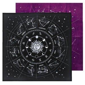 Mantel Astrología terciopelo Board Card Adivinación de Oracle Card Game Pad Altar de tela Constelaciones de Tarot de Fortune 12 qylrPh allguy