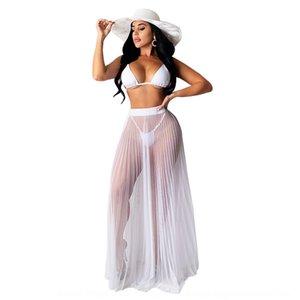 qizmZ 8539 sexy plage gaze robe de jumpsuit d'une seule pièce 8539 plage bikini sexy gaze plissée jupes Robe plissée Bikini jupe salopette un p