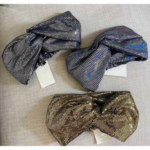 Mulheres Turban Cruz Broadside Headband alta Elastic lantejoulas Acessórios de cabelo Mulheres Scrunchie Carta de luxo Imprimir Headband