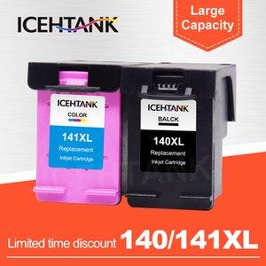 140 141 XL Photosmart C4283 C4583 C4483 C5283 D5363 Yazıcı Kartuşları için ICEHTANK Uyumlu Mürekkep Değiştirme